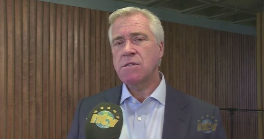 Newfoundland Premier Dwight Ball tells NTV the provincial government is exploring its options over the Grieg salmon farm project. Photo: NTV screenshot.