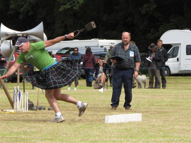 The Scottish Salmon Company will be headline sponsor for the Lochcarron Highland Games, which include hurling the hammer.