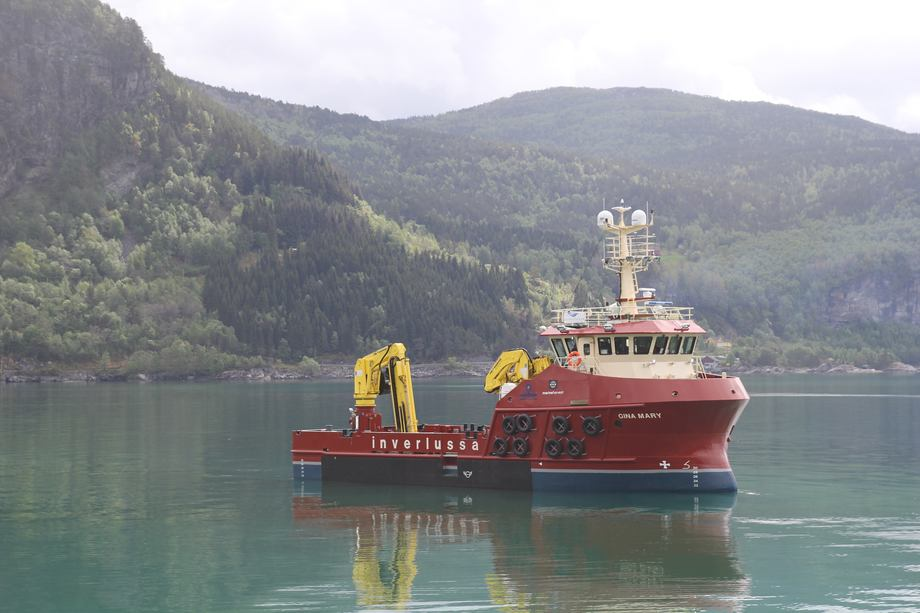 Inverlussa's new workboat will start a long-term contract with Marine Harvest on June 1.
