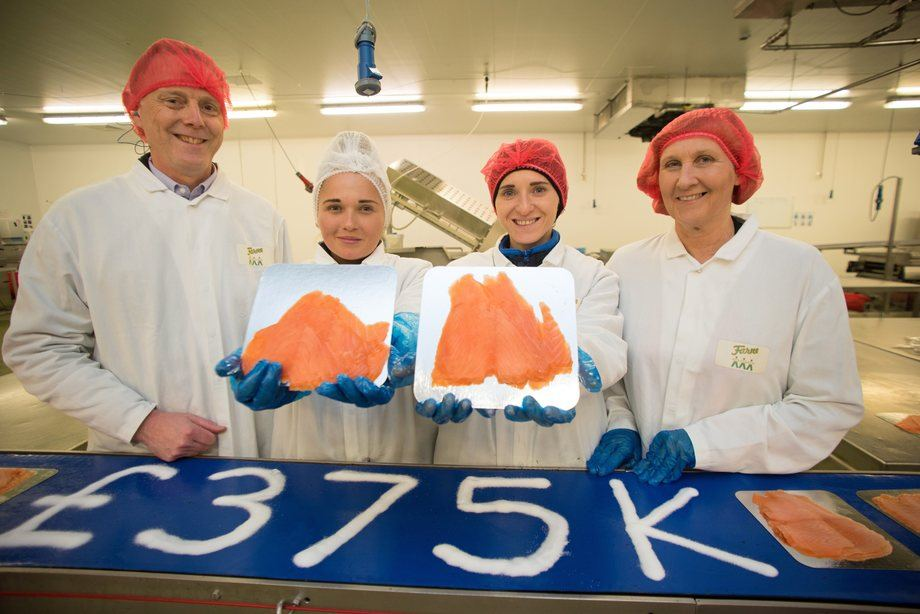 Angus Forbes, Magdalena Tomczak, Monica Kubowicz of Farne Salmon and Trout, and Gillian Bruce of the VIBES awards.