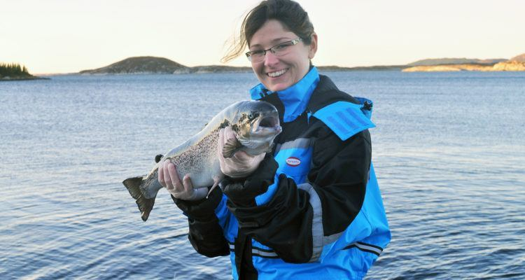 Marta Bou Mira has studied how much marine fats farmed salmon need for good health. Photo: Kjellrun Hoås Gannesta / Nofima.