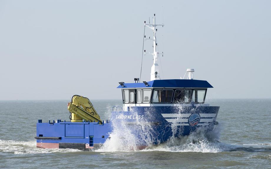 The Sandoyne Lass during sea trials. Image: E.J. Bruinekool Fotografie en Tekst