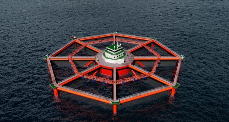 MariCulture has been given licences to grow 6,240 tonnes of salmon, half the Smart Fish Farm concept's capacity. Image: MariCulture.