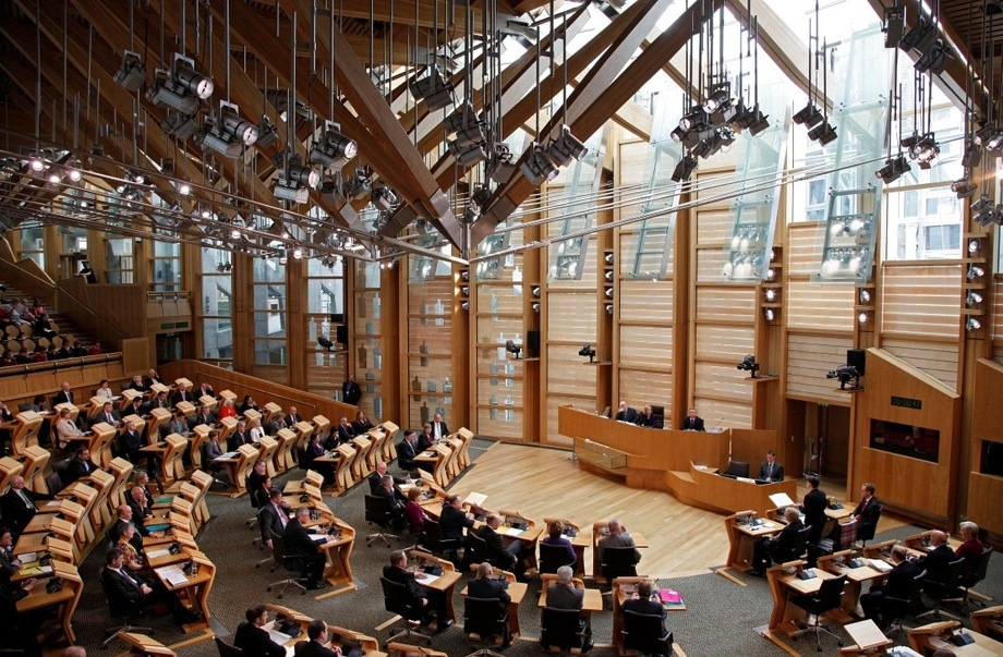 The Holyrood Parliament in Edinburgh.
