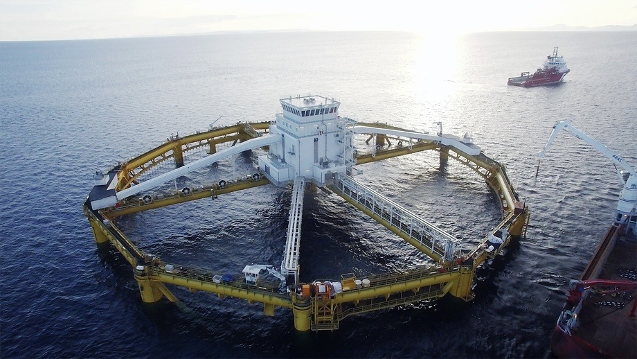 SalMar's Ocean Farm 1 offshore salmon facility. The company said it was important that it is able to take strategic opportunities that will come in the future, including offshore fish farming. Photo: SalMar.
