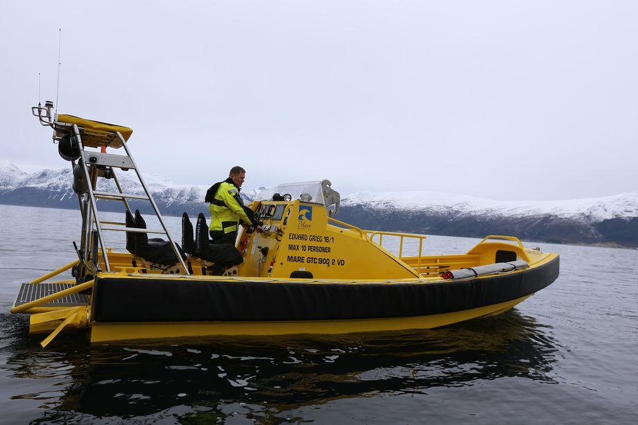 Illustrasjonsfoto: Mare Safety båt levert til Lundin for bruk på Edvard Grieg-feltet.