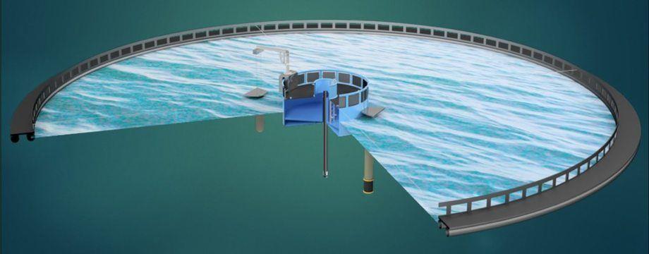 Illustrasjon av merdløsning. Foto: Nauplius Solutions.
