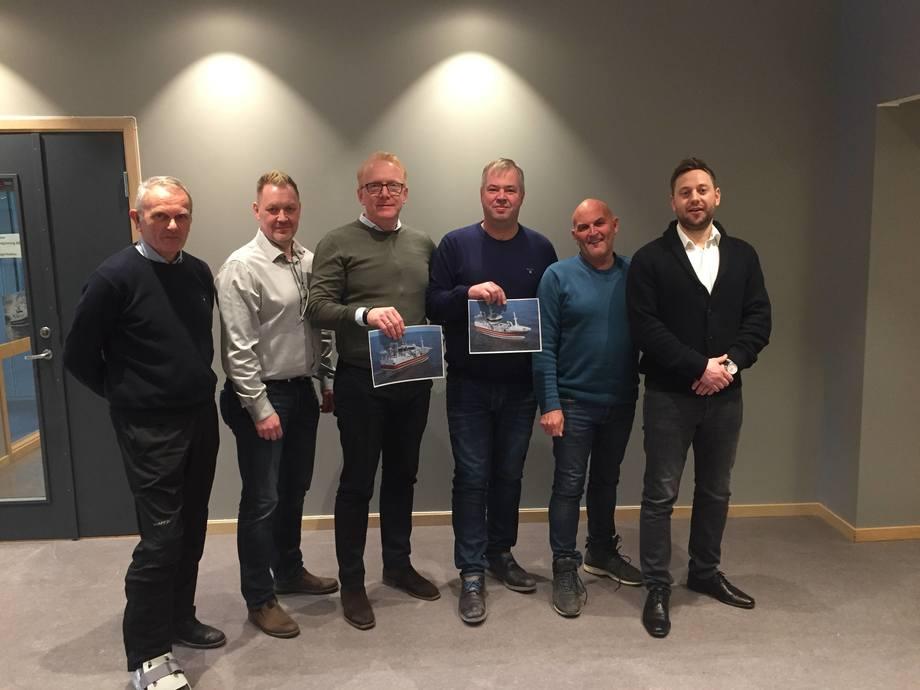 F.v. Svein Fagerbakke (Radek), Rolf Barstad (Rolls-Royce Marine), Agnar Lyng (Stadyard), Arild Sekkingstad (Radek), Malvin Silden (Stadyard), Per Ståle Nykrem (Rolls-Royce Marine)