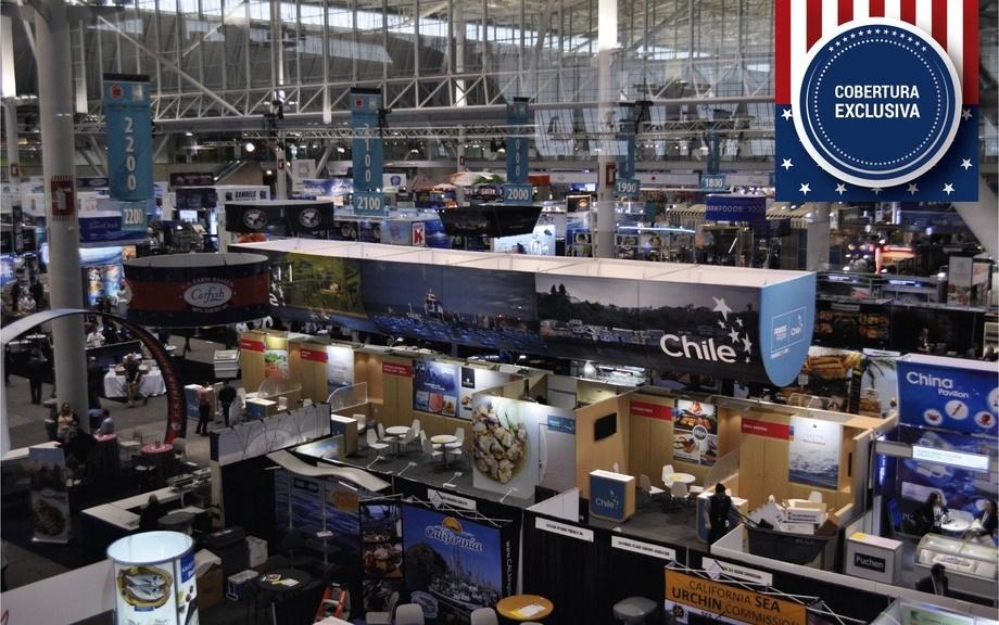Pabellón de Prochile en Seafood Expo North America 2017. Foto: Daniella Balin, Salmonexpert.