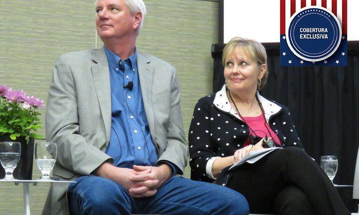 Chuck Anderson y Nancy Wangles. Imagen: Daniella Balin, Salmonexpert.