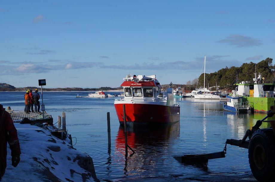 Vikafjord er Folla Maritimes byggenummer 68, og ble overlevert til Refsnes Laks i mars. Foto: Folla Maritime