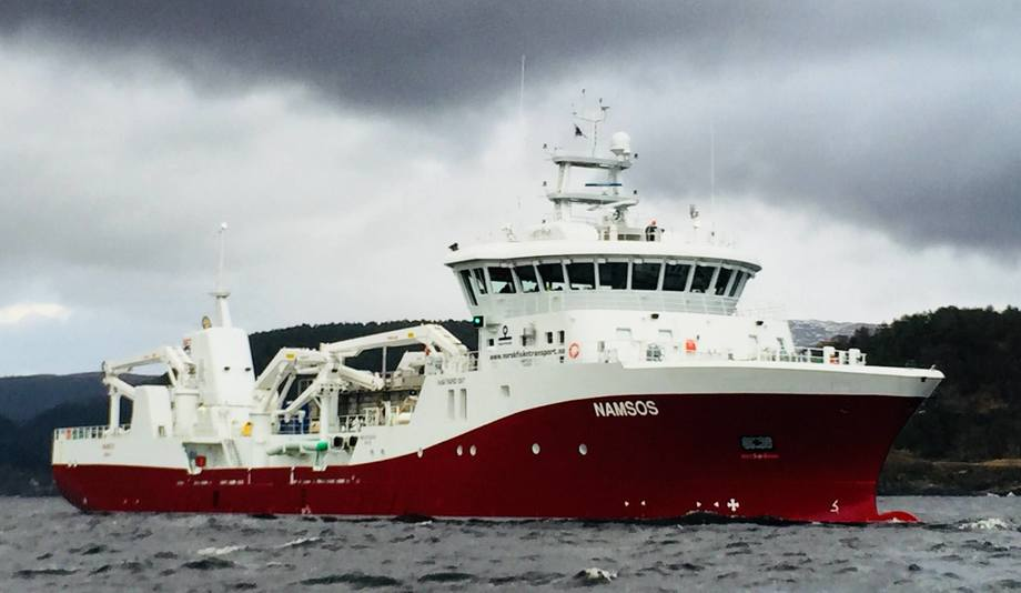The new UV system was tested on the Norsk Fisketransport wellboat MS Namsos. Photo: Steinsvik