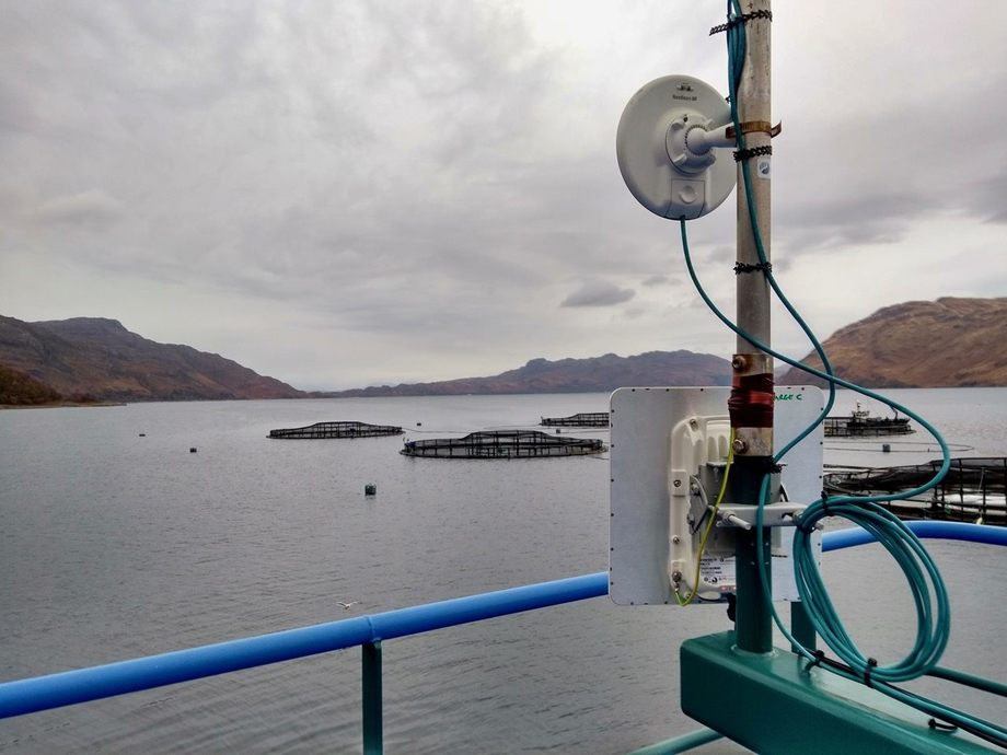 Scottish Sea Farms has worked with a local broadband provider to bring superfast internet access to its farms and residents. Photo: SSF