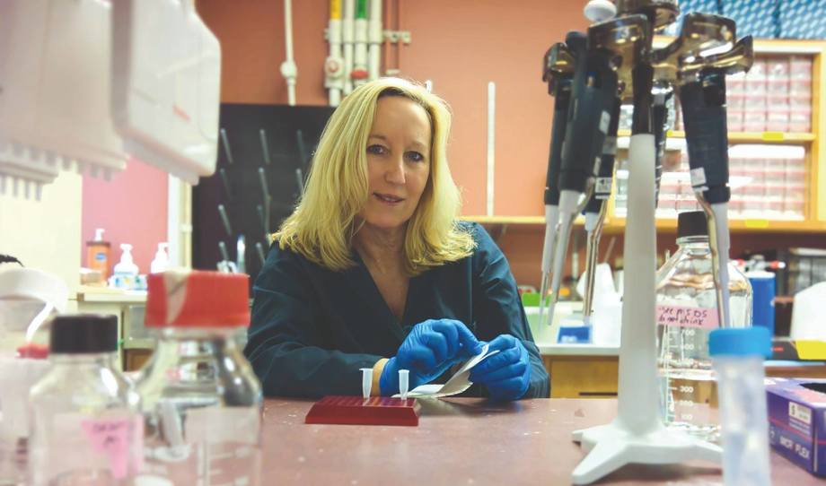 Kristi Miller is head of molecular genetics at the Pacific Biological Station in Nanaimo on Vancouver Island. Photo: PBS