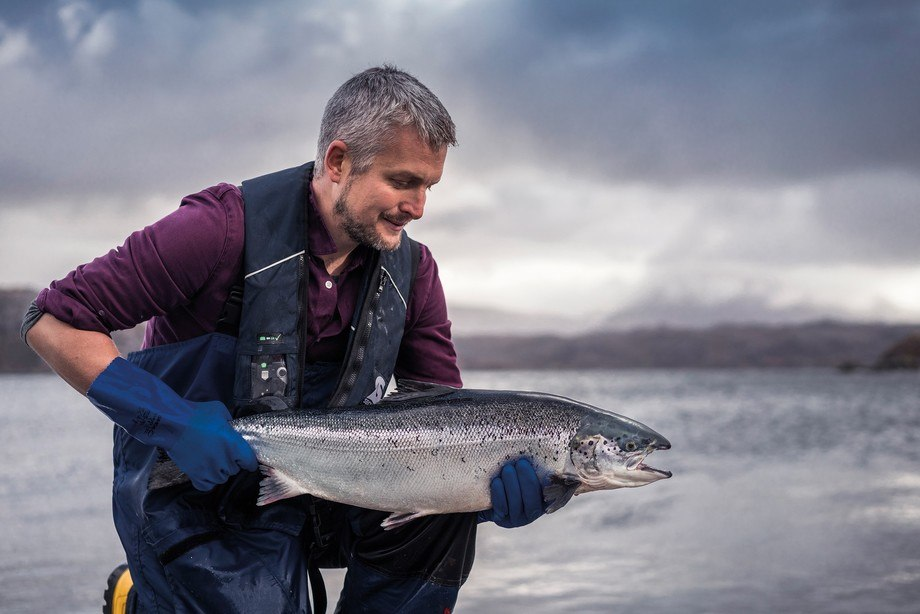 Fish health checks and lice counts by Loch Duart staff will be monitored by the West Sutherland Fisheries Trust . Photo: Loch Duart.