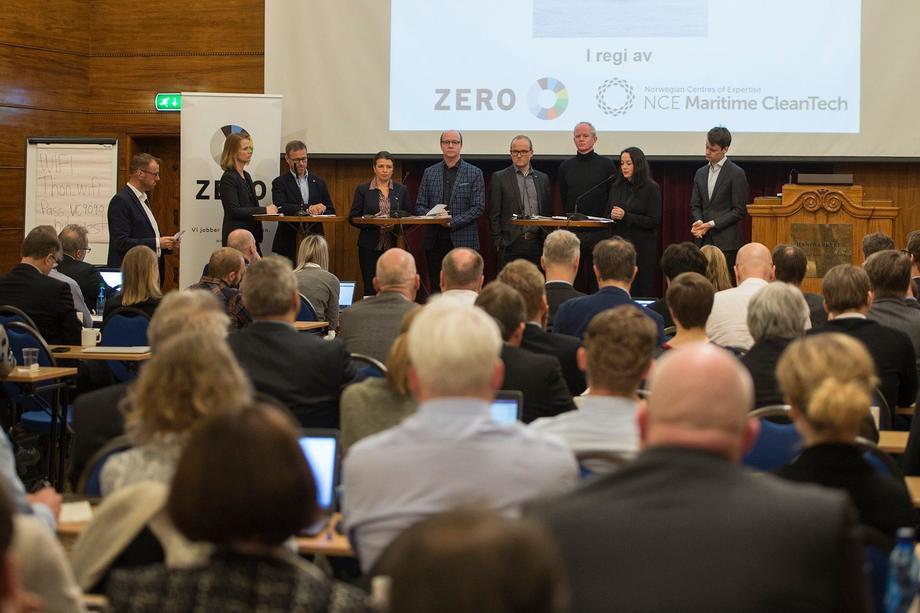 Fra seminaret i regi av ZERO og NCE Maritime CleanTech. Foto: NCE Maritime CleanTech