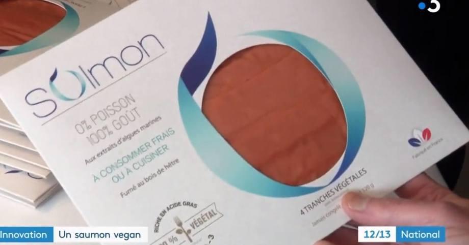 0% pez 100% sabor, promociona el empaque del salmón vegano.