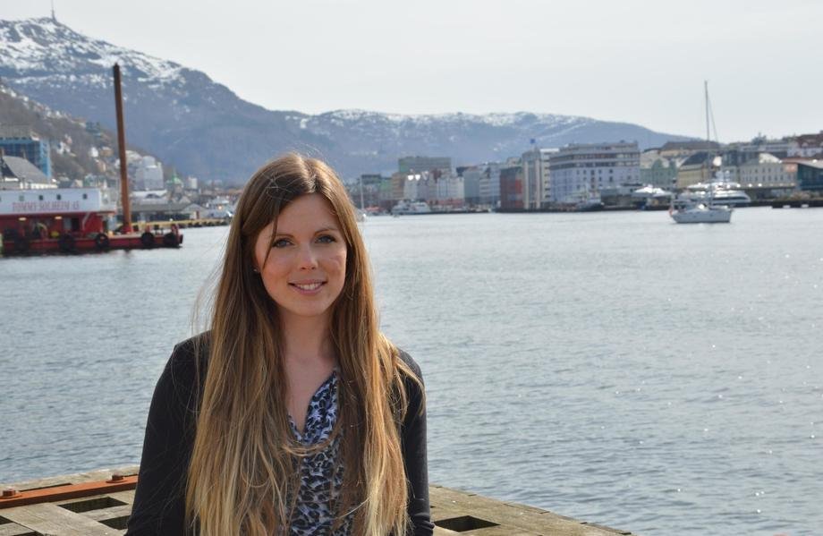 Linn Therese Skår Hosteland har jobbet i Norsk Fiskeoppdrett/Kyst.no siden januar 2014. Foto: Therese Soltveit