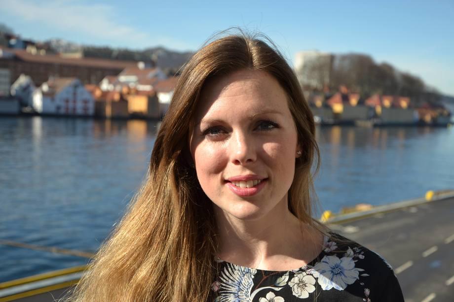 Linn-Therese Skår Hosteland,næringspolitisk rådgiver i Kystrederiene. Foto: Therese Soltveit.