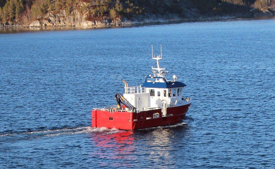 Servicebåten «Børfjord» er sjette leveransen fra Moen Marin AS på Kolvereid til Norwegian Royal Salmon. Foto: Moen Marin