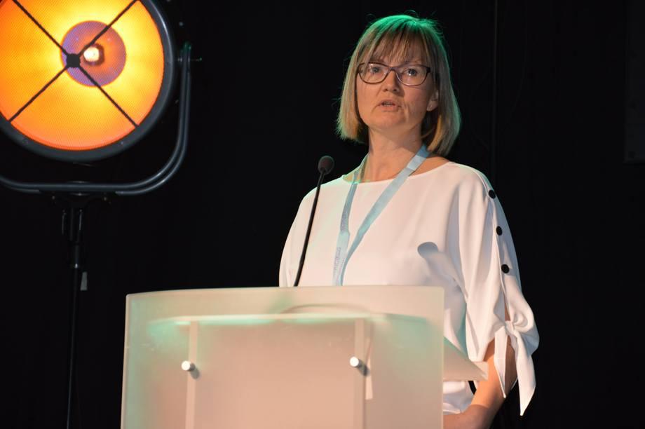 Administrerende direktør Nina Santi i AquaGen. Foto: Therese Soltveit.