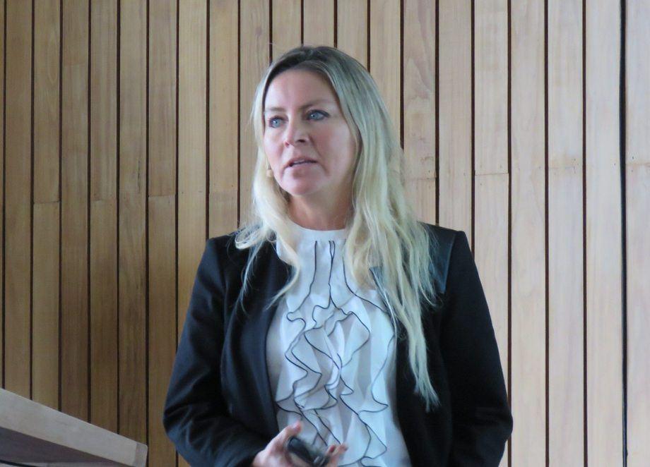 Mv. Marcela Delgado, business and development manager de STK Aquamor. Foto: Francisco Soto, Salmonexpert.