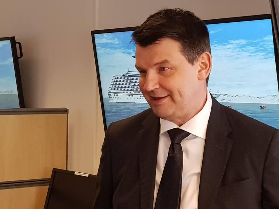 Justisminister Tor Mikkel Wara. Foto: Gustav Erik Blaalid