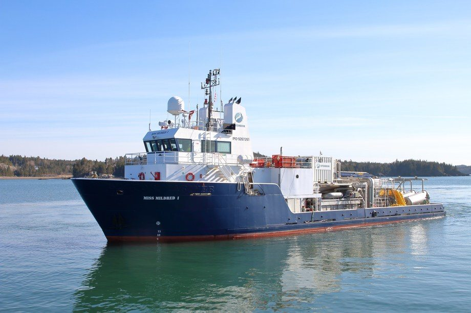 The Miss Mildred is Cooke Aquaculture's first Thermolicer-equipped vessel in Atlantic Canada. Photo: Cooke