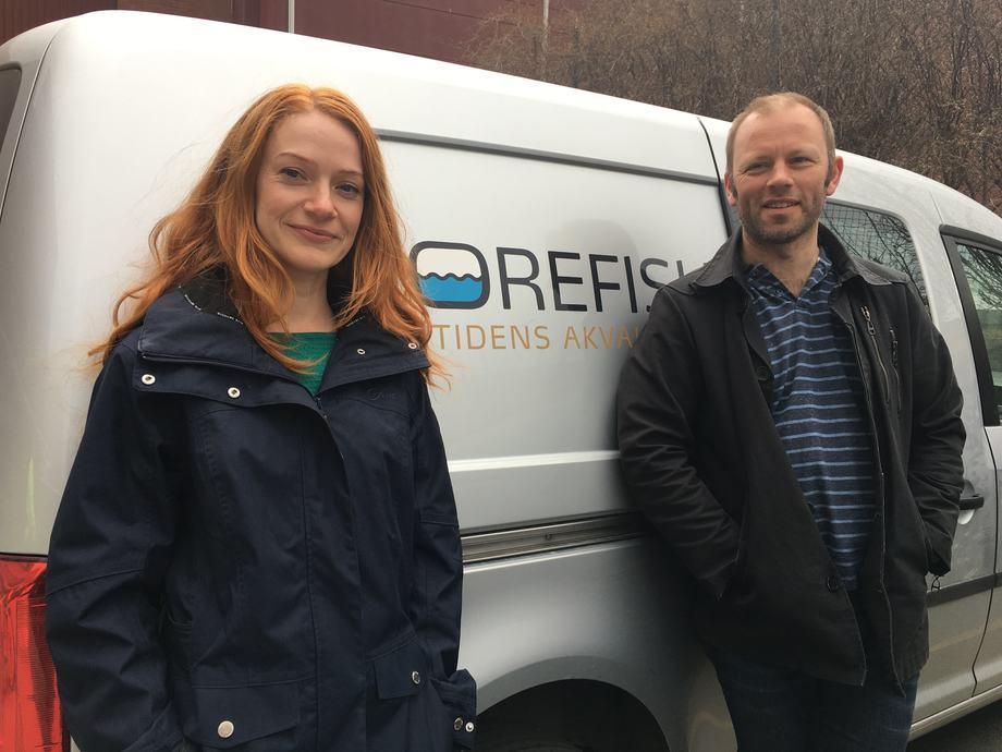 Prosjektleder Helene Moe og  daglig leder Svein Martinsen fra Morefish. Foto: Morefish.