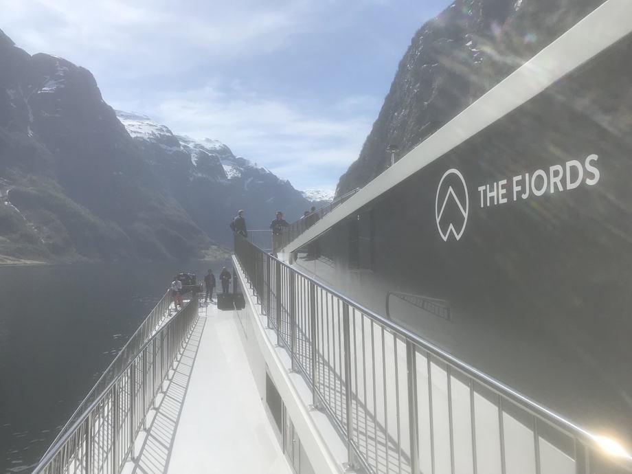 Strålende vær da The Fjords inviterte verdenspressen ombord Foto: Sigbjørn Larsen