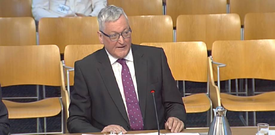 Fergus Ewing opens his evidence to the Rural Economy and Connectivity committee.