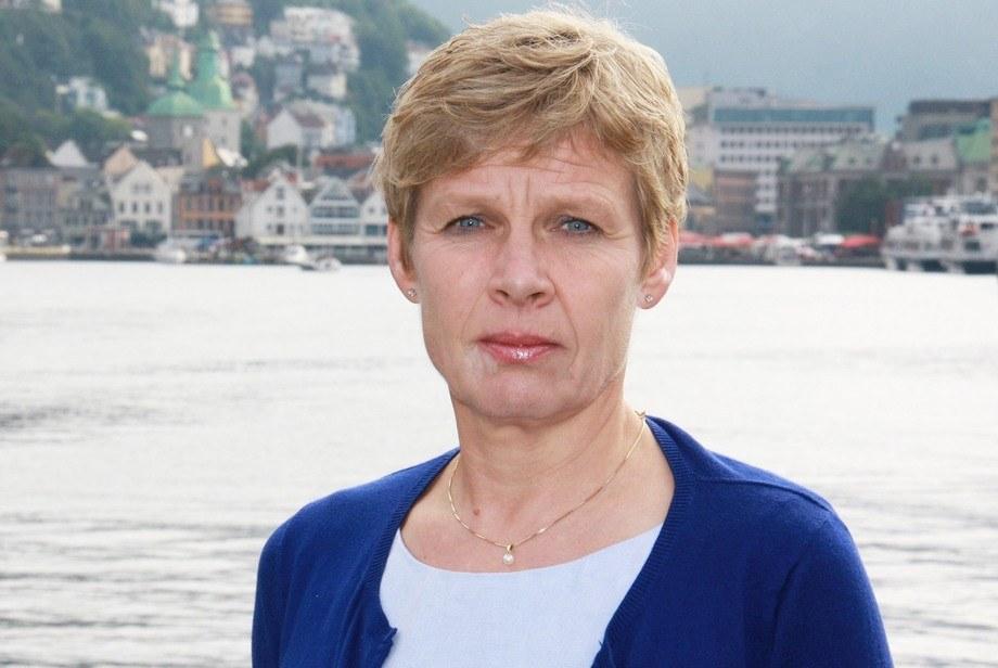 Styreleder i stiftelsen Nor-Fishing, Liv Holmefjord, forsikrer det blir Aqua Nor i år. Foto: Fiskeridirektoratet.