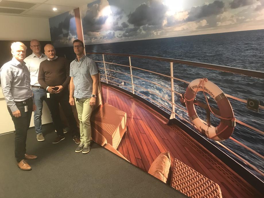 Teknotherm har laget møterom som skal forløse innovasjon og kreativitet. Her er det et som er laget som bakken på et skip. Foto: Sigbjørn Larsen