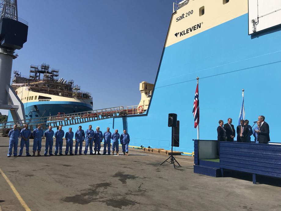 Maersk Minder er levert fra verftet Foto: Marianne Hovden - Kleven
