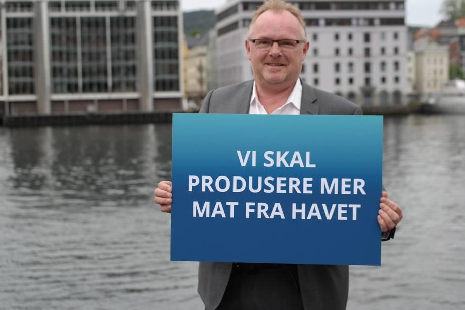 Fiskeriminister Per Sandberg reiser denne uken til New York