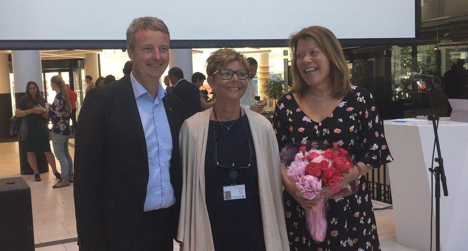 Fra venstre: Terje Søviknes, Anne Gine Hestetun og Nina Broch Mathisen. Foto: Vibeke Blich