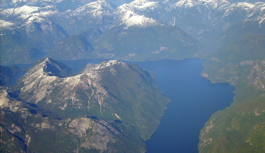 Grieg Seafood lost 250,000 fish due to a harmful algal bloom in the Jervis Inlet, pictured. Photo: Wikipedia
