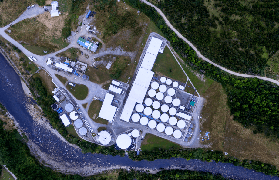 Benchmark took a 49% stake in AquaChile's Chaicas facility in June last year. Photo: Benchmark.