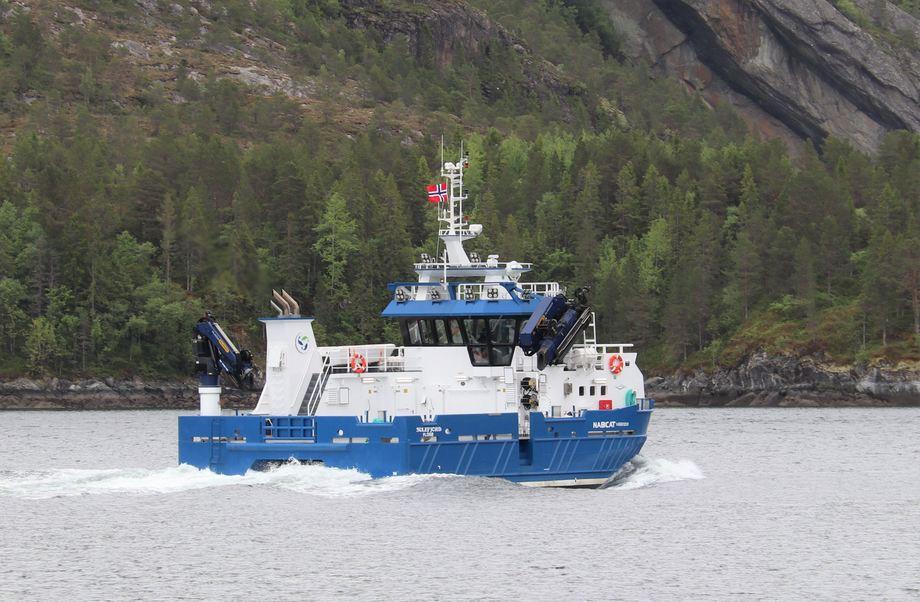 Den nye katamaranen til Sulefisk AS skal bedre kapasiteten til selskapet. Foto: Sulefisk