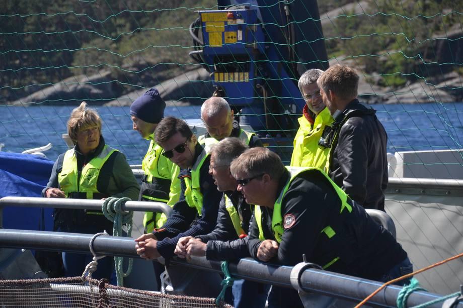 AKVAHUB arrangerte nylig en workshop med lokale aktører hos Sulefisk AS med omvisning på Ecomerden. Foto: AKVAHUB