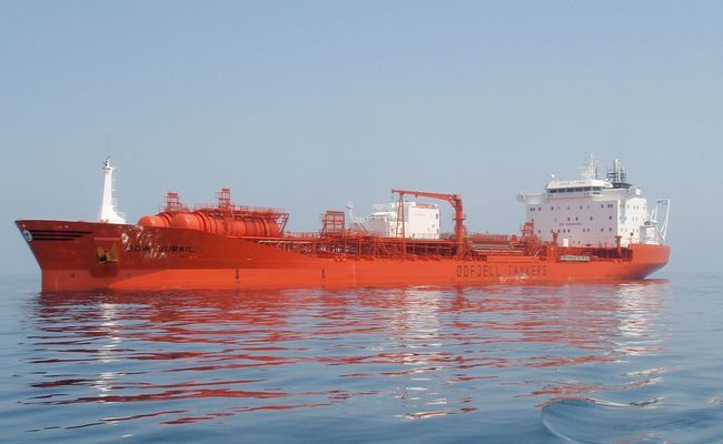En av to hendelser for Oddfjell i 2018 var da «Bow Jubail» traff kaien i Rotterdam, og 217 tonn fyringsolje lakk ut