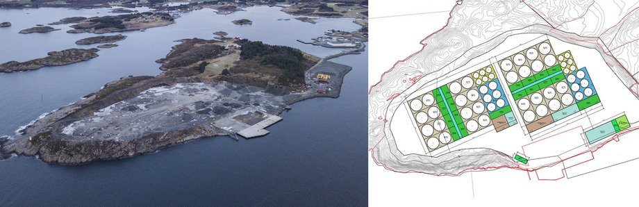 Salmon Evolution plans to produce 28,800 tonnes of salmon a year at an on-land plant. Illustration: Salmon Evolution