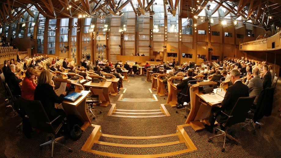 The full Parliament will have the opportunity to debate Scottish salmon farming tomorrow. Photo: Scottish Parliament.