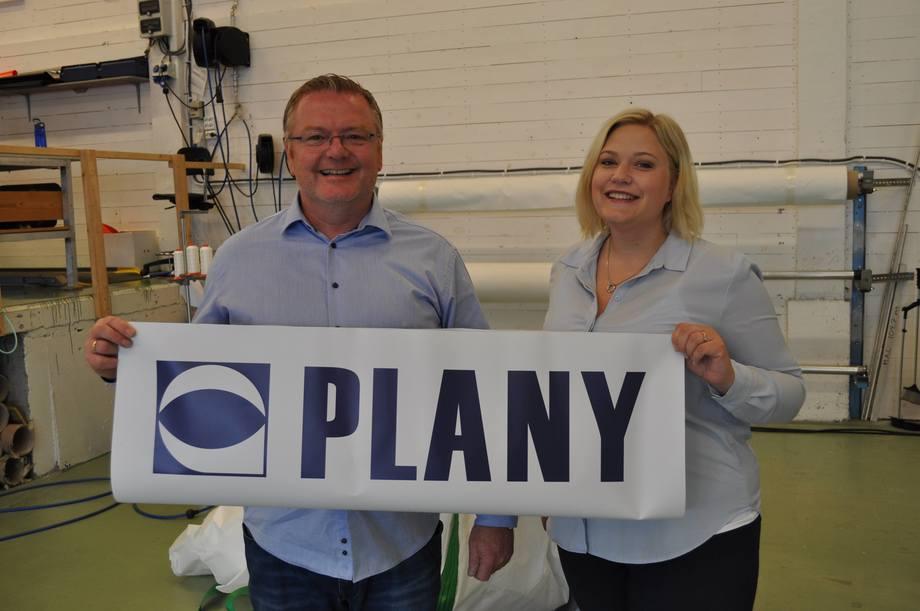 Den nye administrerande direktøren på plass hos Plany AS. Foto: Plany