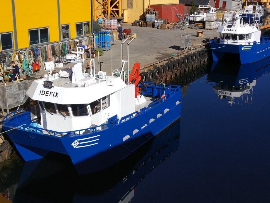 Sletta Verft overleverte i dag to nye arbeidsbåter til Gildeskål Forskningsstasjon. Foto: Sletta Verft