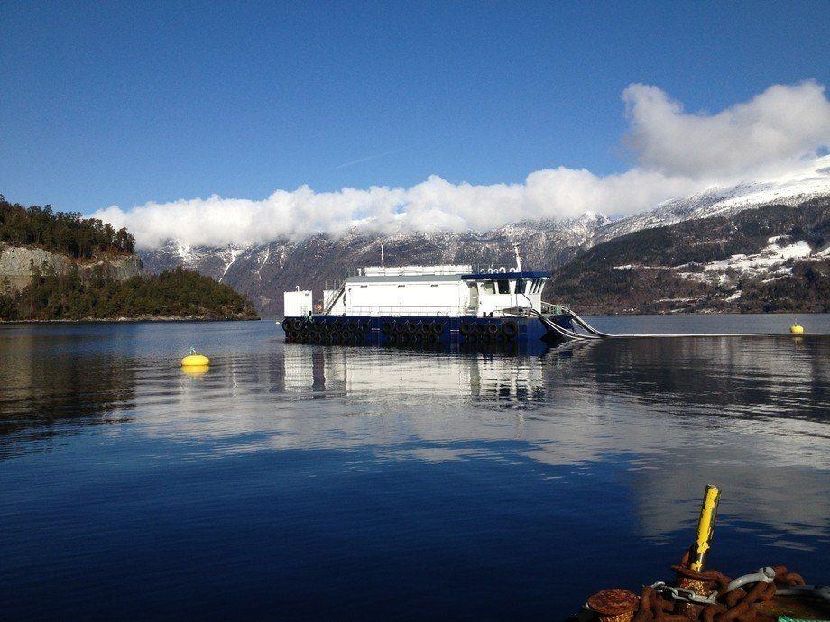 En av Nordfjord Laks lokaliteter. Foto: Nordfjord Laks.