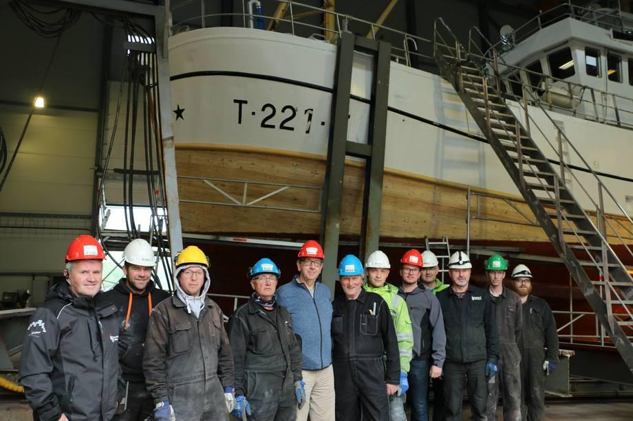 Ny fiskebåt sikrer sysselsettingen ved Grovfjord Båtbyggeri. Foto: Sigbjørn Larsen