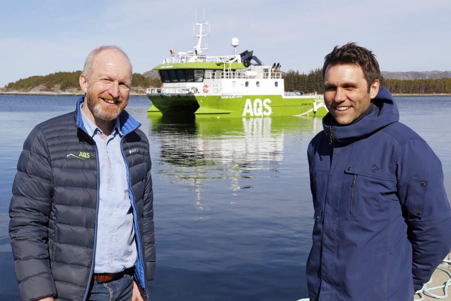 Ove Løfsnæs (til venstre) blir styreleder i det nye AQS AS, mens Ola Krystad blir daglig leder. Foto: AQS.