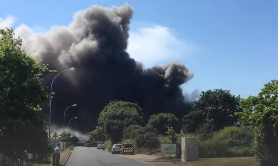 The blaze at the Kritsen factory in Brittany destroyed the processing plant.