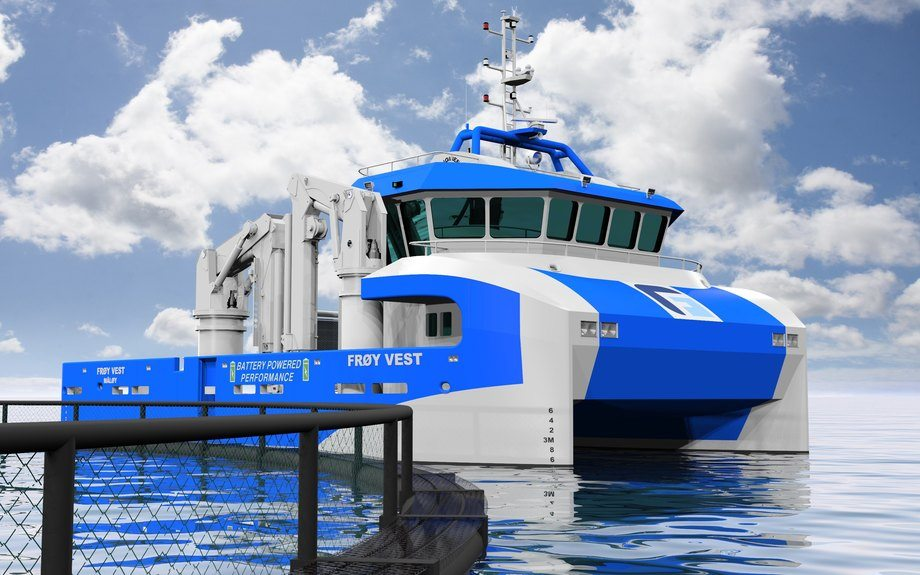 Frøy Vest Rederi har kontrahert en 20 meter servicebåt hos Sletta Verft i Mjosundet i Aure. Illustrasjonsfoto: Frøy Vest.